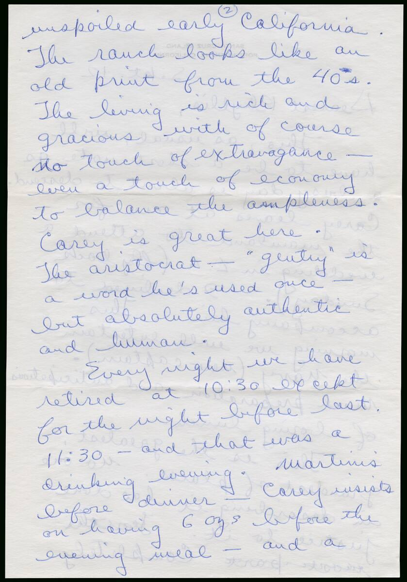 Correspondence from Richard Diebenkorn to Phyllis Diebenkorn