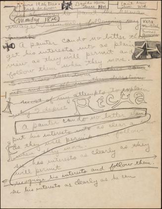 Artist's writing